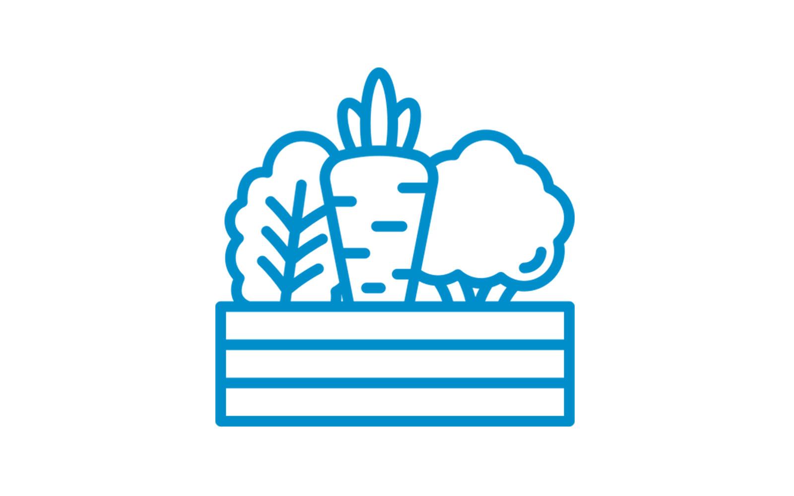 Caja de cartón para alimentación