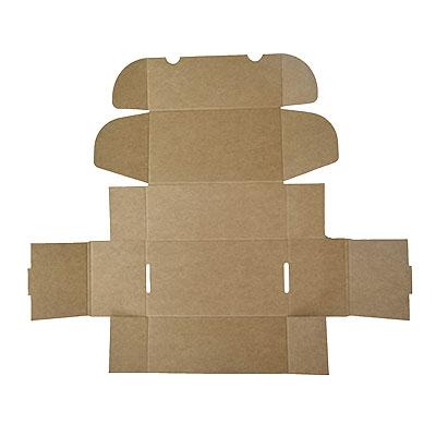 Caja automontable desplegada