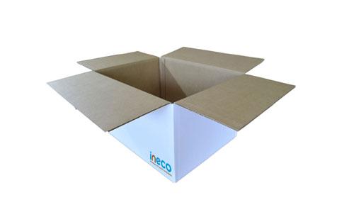 Caja blanca de cartón
