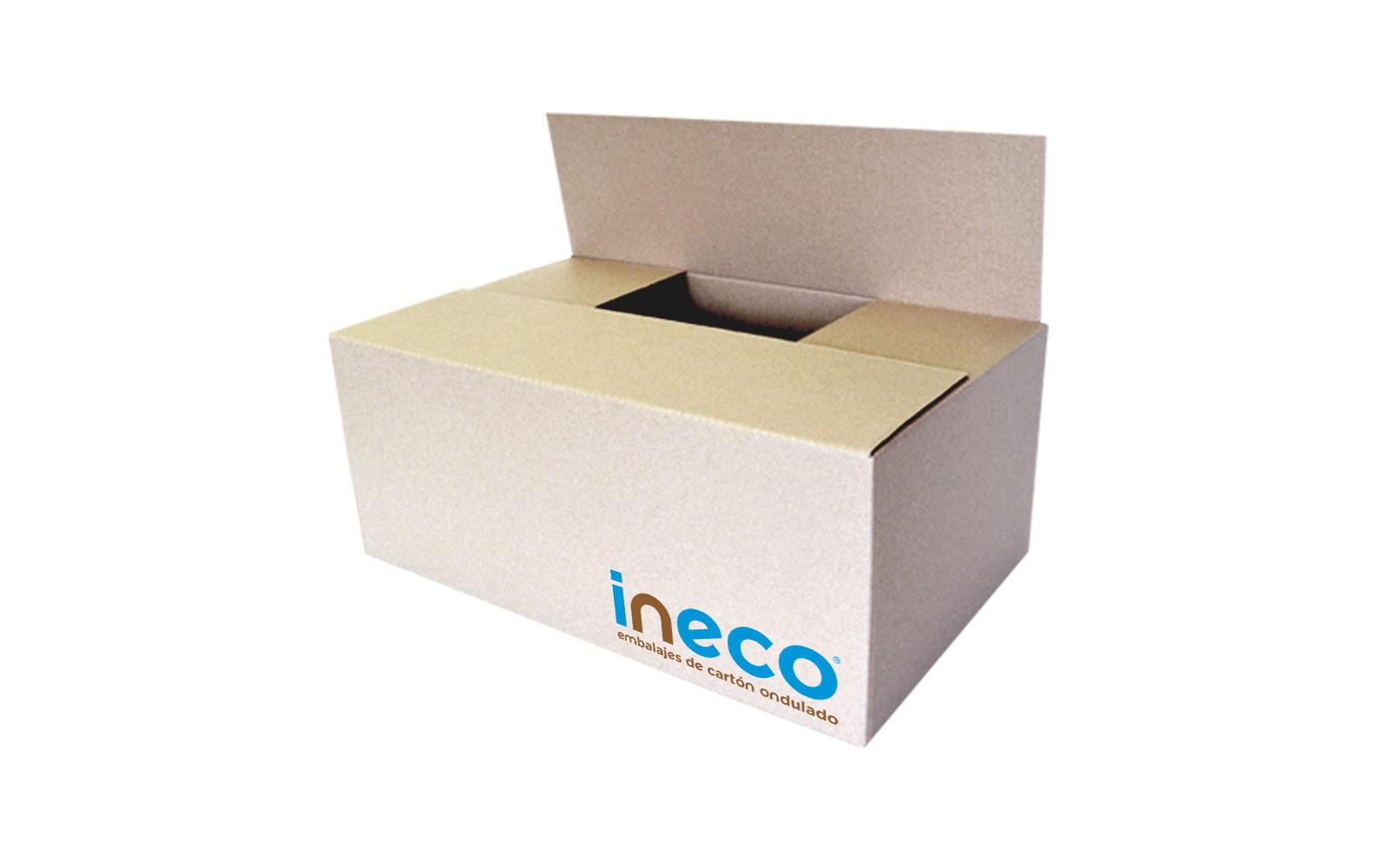 caja de cartón con solapas