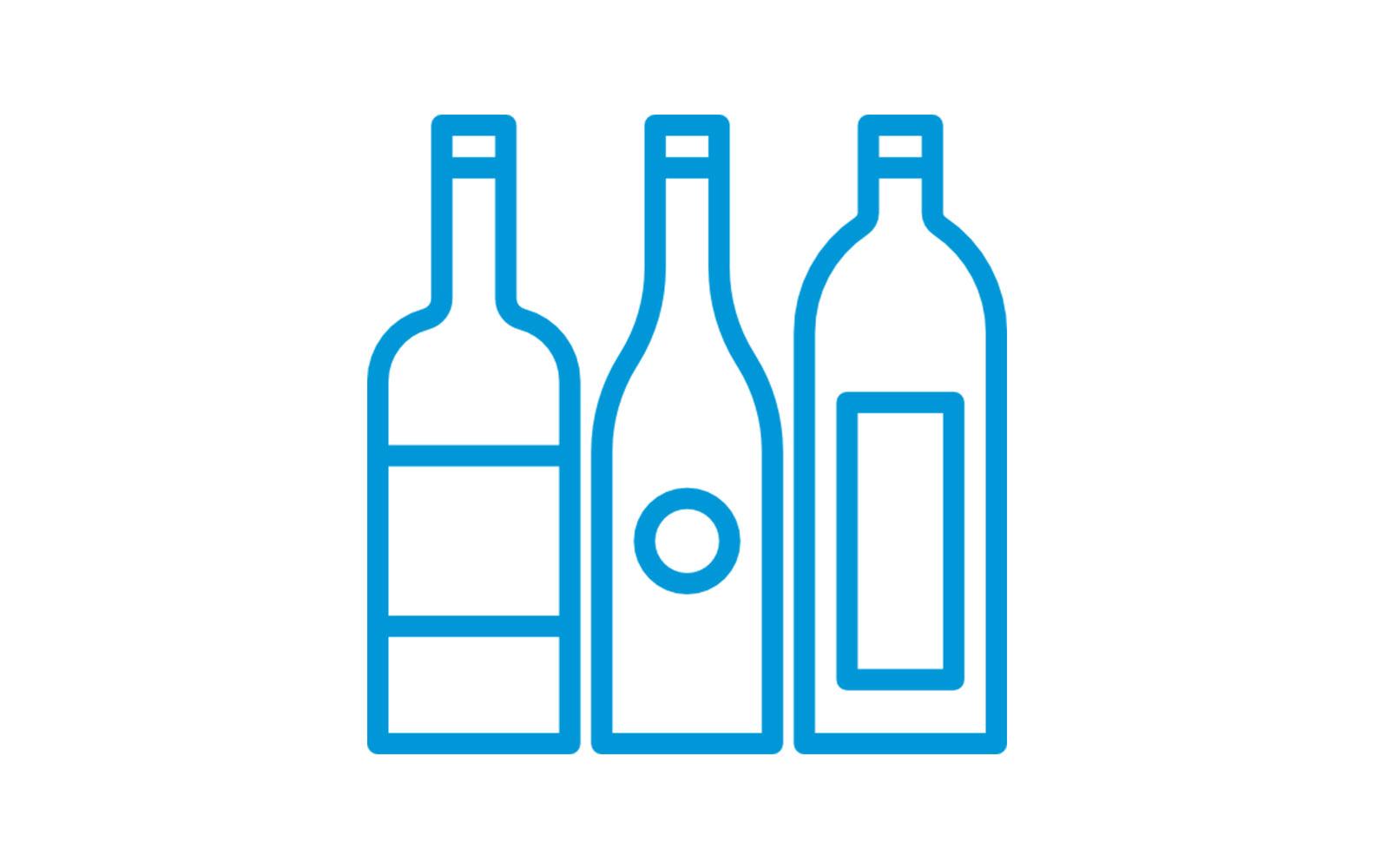 Caja para las botellas de vino