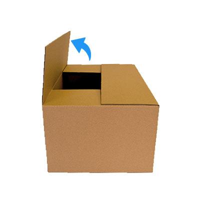 Caja con solapa abierta